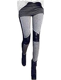 HOUSWEETY Legging pantalon Collant Elastique Gris Sexy Femme / Fille Moderne - Automne / Hiver