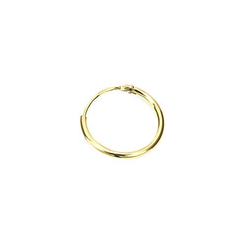 NKlaus 585 echt GOLD SINGLE HERREN Creole Ohrring Ohrschmuck Ohrhänger 13mm 1751