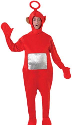 Fancy Ole - Herren Männer Teletubbies, Po, Kostüm, Karneval, Fasching, S-L, (Po Teletubbies Halloween Kostüm)