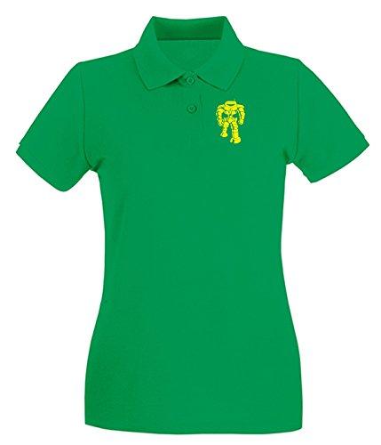 T-Shirtshock - Polo pour femme OLDENG00854 sheldons robot Vert