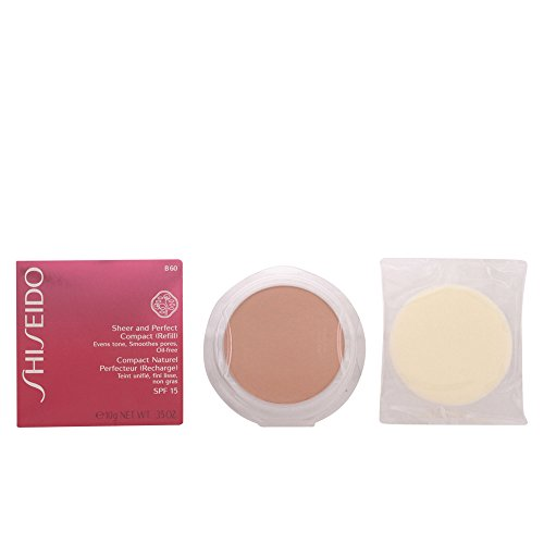 Shiseido Sheer und Perfect Compact Refill unisex, Puder Foundation 10 g, Farbnummer: B60, 1er Pack (1 x 0.208 kg) (Foundation Finish Sheer Compact)