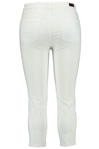 MS Mode Damen, Slim Fit Caprihose Magic Weiß