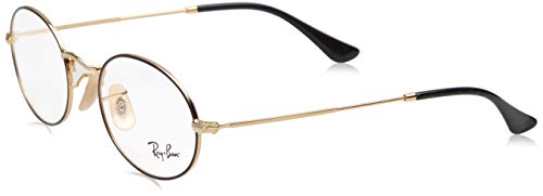 Ray-Ban Unisex-Erwachsene 0rx 3547v 2991 48 Brillengestelle, Schwarz (Gold On Top Black),