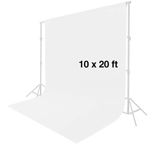 fotostudio hintergrundstoff CRAPHY Hintergrund, 3x6M Hintergrundstoff aus Muslin Hintergrund, Weiß Fotografie Hintergrund für Fotostudio, Modefotografie, Videoaufnahme(Weiß)