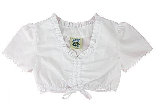 Isar-Trachten Dirndlbluse Kinder weiß (134, Weiß)