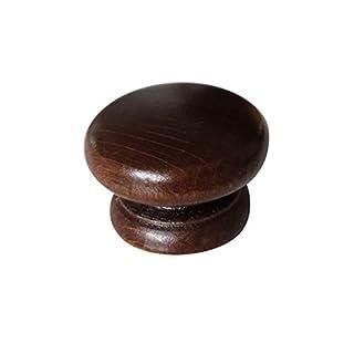 20x Holz Tür Griffe Knöpfe Farbe: Walnuss Küche Tür Schrank 40mm Durchmesser