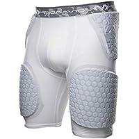 McDavid Hex Pad Wrap Around - Pantalones cortos con amortiguación, color blanco, talla M