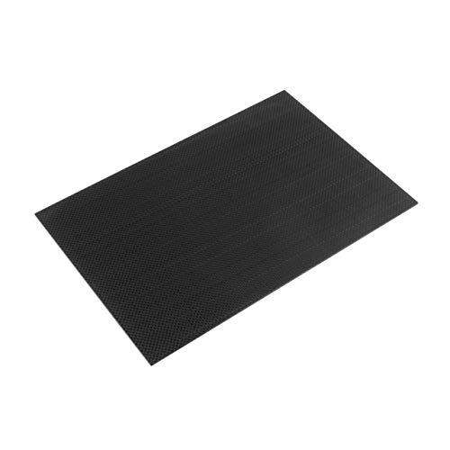 3K Plain Weave Carbon-Faser-Platte/Panel/Blatt 200 x 300 x 2 mm Starre Weave Oberfläche Platten-Brett Zubehör(Schwarz) Jasnyfall -