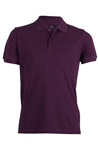 Polo in cotone tinta unita violetto Violetto