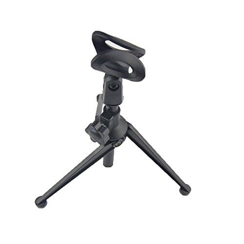Racksoy Professionell Mini Einstellbar Stativ Flexibel Tisch Montage Mikrophone Halterung Ständer mit Mic Klemme