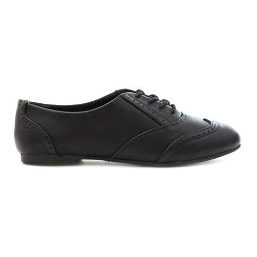 Lilley , Chaussures de ville à lacets pour fille Noir