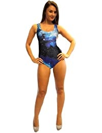 The Great Cosmic Galaxy Universe Printed Swimsuit Bodysuit Leotard