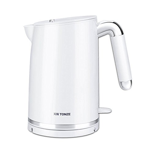 BCQ Electric Kettle Stainless Steel White Double Anti-Hot 1300W 1.0L Separable Base Automatic Power off Insulation Home Travel Electric Kettles