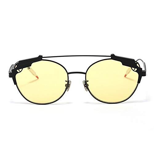 Sonnenbrillen Klassische rechteckige Sonnenbrille, Frauen Damen Sonnenbrille gespiegelt Flieger reflektierenden Retro für golfbrillen Angeln Sport (Farbe : Black Box Tea)