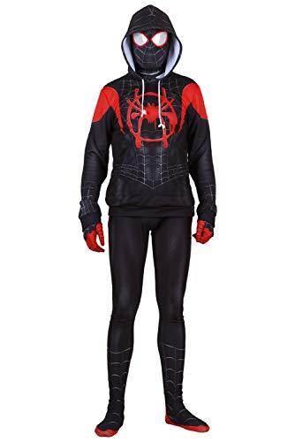 RedJade Spider-Man: Into The Spider-Verse Halloween Cosplay Kostüm Hoodie Jacket for Kids - Spiderman Kostüm Hoodie