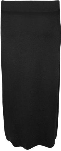 WearAll - Maxi-jupe simple et élastiquée - Jupes - Femmes - Tailles 36 à 42 Noir