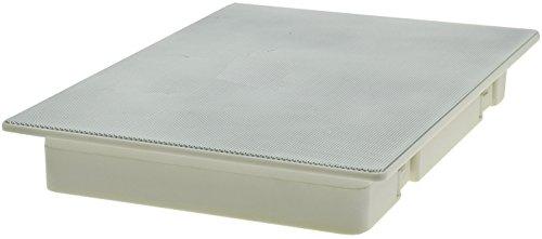 Decken- & Wand Einbaulautsprecher CTE-W Weiß Metallschutzgitter Halteklammern 8 Ohm Einfache Montage (287x197mm, 120 Watt, 2-Wege, Weiss)