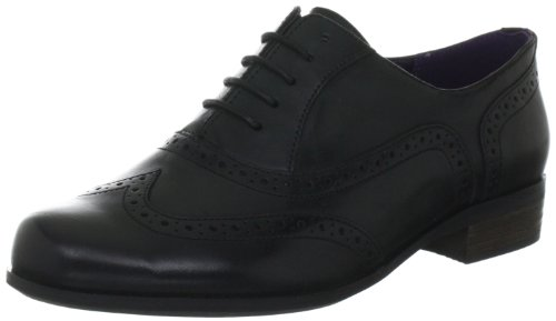 Bräune Casual Schuhe (Clarks Hamble Oak 203467135, Damen Casual Schnürer, Schwarz (Black Leather), EU 38)