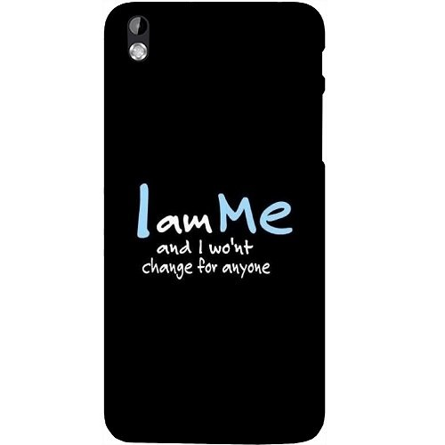 Casotec Quotes Design Hard Back Case Cover for HTC Desire 816