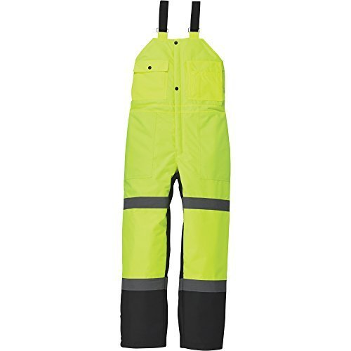 Utility Pro Wear High-Visibility Insulated Bib Overall - Lime/Black, Large, Model# UHV500 by Utility Pro Wear Insulated Bib Overall