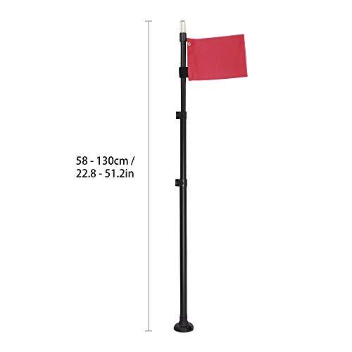 Blusea Boot Sicherheits-Flaggen Combo Kajak Flaggen Wasserdichte helle Lampe für Marinekanu-Zubehör