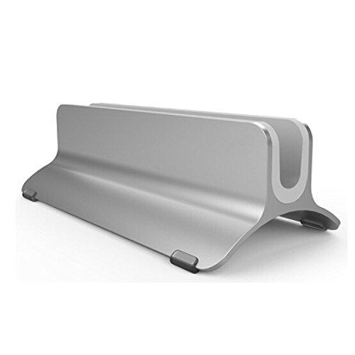 Preisvergleich Produktbild Vertikaler Laptop-Standplatz, Beeiee Aluminium Desktop Vertikale Laptop Stand Halter für MacBook Air, MacBook Pro, Notebooks