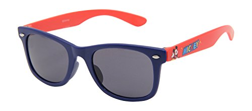 Disney Wayfarer Boys\' Sunglasses (C30230-(Blue and Red) | 45 | Blue)