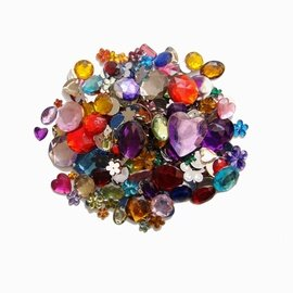 Acrylic Jewels Assorted 70 grm b...