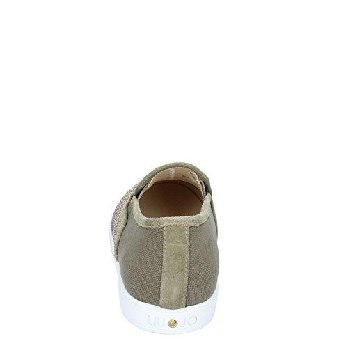 Liu Jo Chaussures S15143 Slip On Femme Vert Tissu Militaire Vert