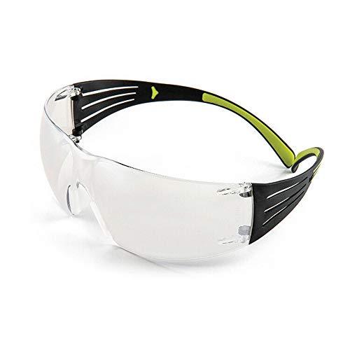 Yiph-Sunglass Sonnenbrillen Mode Wraparound-Schutzbrille, durchsichtige grüne Linse (1er Pack)