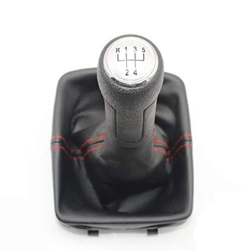 LILIGUAN Car Styling Nuovo Avvio in Pelle con pomello del Cambio a 5 Marce, per Polo 9N 9N2 GTI 2002 2003 2004 2005 2006 2006 2008 2008 2009 2010