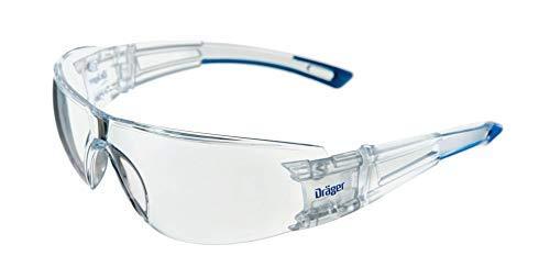 Dräger Schutzbrille X-pect 8330 Scheibe aus PC UV-Schutz: 99,9% Bügelbrille incl. Antikratz+Antibeschlag