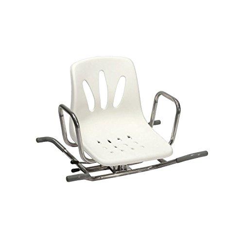 Sedia girevole in acciaio inox per vasca da bagno