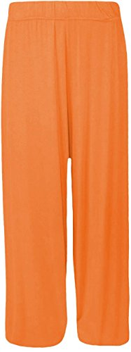 Nouveaux Femmes Grande Taille Plaid jambe large stretch Bas palais 44-54 Orange