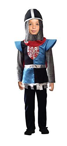 Cesar F855-004 - Disfraz de Caballero, Color Negro y Azul y Rojo