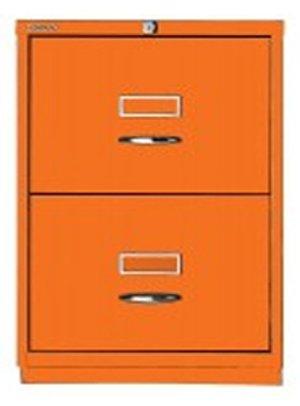 Bisley 046-abo-851711x 470x 470mm 2F F Serie Classic vorne Schrank mit 2Schubladen-Licht rot/orange