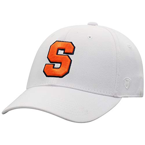 Top of the World NCAA Premium Collection Herren Mütze, Memory-Fit, Weiß, Herren, Premium Collection One-fit Memory Fit Hat White Icon, Syracuse Orange White, Einstellbar