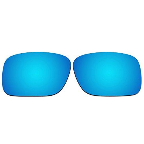 ACOMPATIBLE Ersatz Objektiv für Oakley DET Cord-oo9253Sonnenbrille, Ice Blue Mirror - Polarized, S