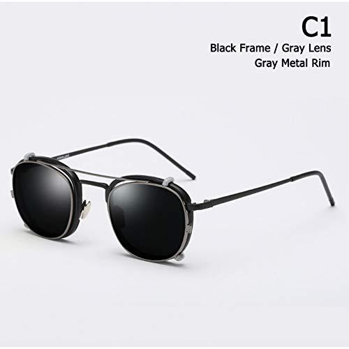 Taiyangcheng Objektiv abnehmbare polarisierte Luftfahrt Sonnenbrillen Clip auf Sonnenbrille,C1