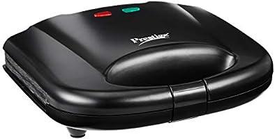Prestige PGMFB 800 Watt Grill Sandwich Toaster with Fixed Grill Plates,Black