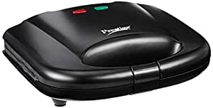 Prestige PGMFB 800 Watt Grill Sandwich Toaster with Fixed Grill Plates,Black