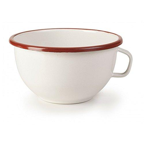 IBILI 909114 Bowl avec Anse Verre, Blanc/Rouge, 14 cm