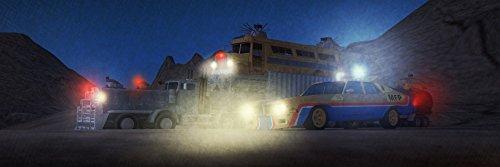 Preisvergleich Produktbild Kunst Druck Bild Mad Max Szene Wüste Endzeit Nacht Beleuchtung Apokalypse Leinwand Poster Tapete Mousepad Acrylglas Aluminium BalsaHolz Aufkleber (Balsa Holz 12mm, 120 x 40 cm)