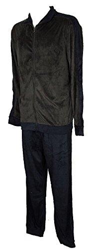 Ragno sport pigiama uomo in morbido e caldo pile manica lunga aperto con zip articolo n25292