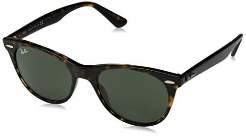 Ray-Ban Unisex-Erwachsene 0RB2185 Sonnenbrille, Schwarz (Havana), 52.0