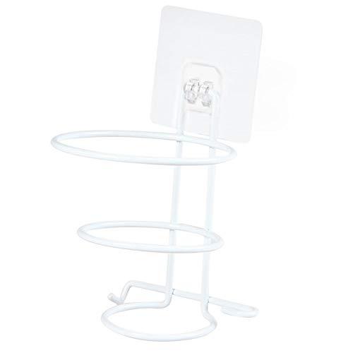FADDR Rack Free Punching Iron Haartrockner Multifunktionsspeicher Badezimmer Wandregal(Weiß) (Badezimmer Haartrockner)