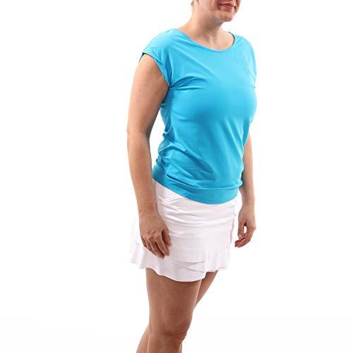 Sportkind Mädchen & Damen Tennis, Fitness, Sport Loose Fit T-Shirt, türkis - neu, Gr. XL -