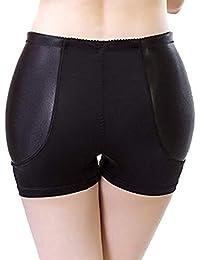 DDJX Pantalones Moldeadores Fajas Nylon Non-Marking Fake Ass Aumentar Span Ropa Interior En Forma De Cuerpo Esponja Fija Respirable Mujer Bragas (M-4XL)