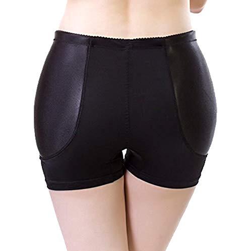 Hip Enhancer Nylon Damen Butt Lifter Non-Kennzeichnung Gefälschte Ass Erhöhen Span Body Shaped Unterwäsche Breathable Festen Schwamm Frauen Control Knickers (M-4XL),Black,XXL