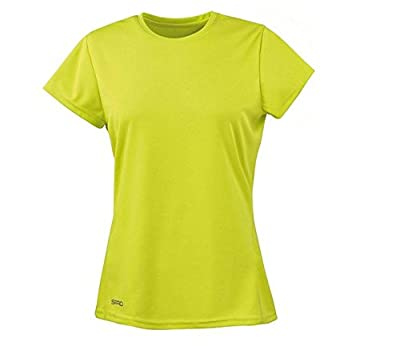 Spiro Damen Quick Dry Super Soft Short Sleeve T-Shirt, Schwarz